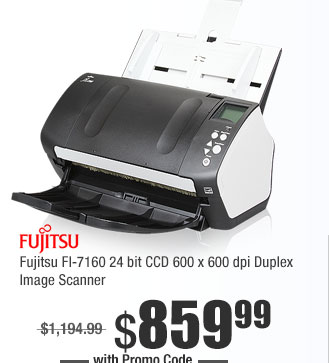 Fujitsu FI-7160 24 bit CCD 600 x 600 dpi Duplex Image Scanner