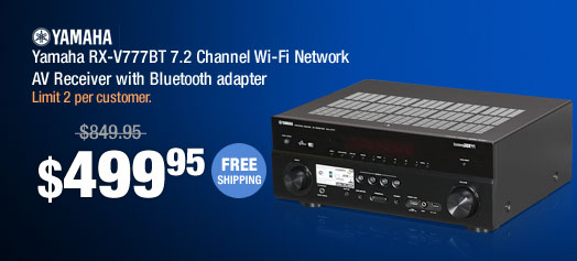 Yamaha RX-V777BT 7.2 Channel Wi-Fi Network AV Receiver with Bluetooth adapter