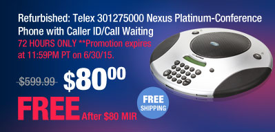 Refurbished: Telex 301275000 Nexus Platinum-Conference Phone with Caller ID/Call Waiting