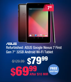 "Refurbished: ASUS Google Nexus 7 First Gen 7"" 32GB Android Wi-Fi Tablet"
