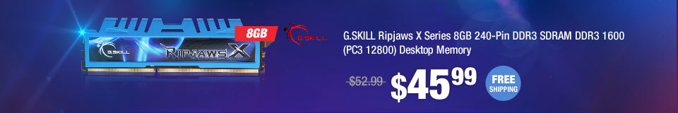 G.SKILL Ripjaws X Series 8GB 240-Pin DDR3 SDRAM DDR3 1600 (PC3 12800) Desktop Memory