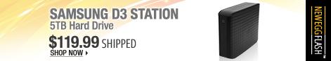 Newegg Flash - SAMSUNG D3 Station 5TB Hard Drive