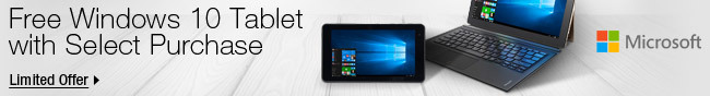 Microsoft -  Free Windows 10 Tablet with Select Purchase