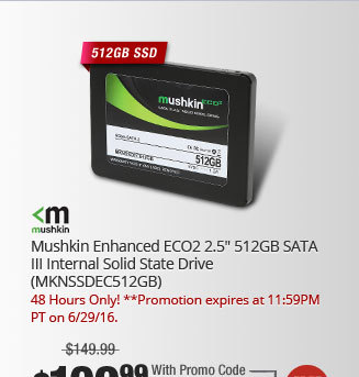 "Mushkin Enhanced ECO2 2.5"" 512GB SATA III Internal Solid State Drive (MKNSSDEC512GB)"
