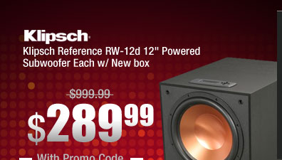 Klipsch Reference RW-12d 12 inch Powered Subwoofer Each w/ New box