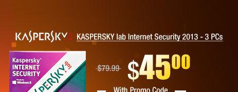 KASPERSKY lab Internet Security 2013 - 3 PCs