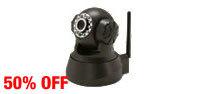 Zmodo CM-I11123BK 640 x 480 MAX Resolution RJ45 Wireless WiFi IR Night Vision Pan Tilt IP Network Camera
