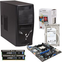AMD A4-5300 Trinity 3.4GHz FM2 65W APU (CPU + GPU) with Radeon HD 7480D, MSI FM2-A75MA-E35 A75 HDMI SATA 6Gb/s USB 3.0 Motherboard, 2 X CORSAIR XMS 4GB DDR3 1333 Memory, Seagate 2TB Hard Drive, Rosewill Case with Power Supply