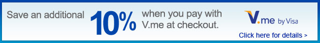 Save an additional 10% When you pay with V.me at checkout