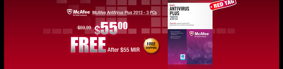 McAfee AntiVirus Plus 2013 - 3 PCs