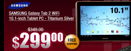 SAMSUNG Galaxy Tab 2 WiFi 10.1-inch Tablet PC - Titanium Silver