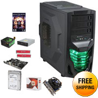 AMD FX-6300 3.5GHz Six-Core CPU, GIGABYTE 970 MOBO, GIGABYTE R7 260X 1GB, HyperX 8GB MEM, Seagate 1TB HDD, RAIDMAX Cobra 500W PSU, LG 24X DVD Burner, RAIDMAX Cobra Case, Free Saints Row IV