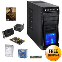 Intel Core i5 Haswell 3.0GHz Quad-Core CPU, ASUS Z87 MOBO, MSI GTX 750Ti 2GB, Kingston 8GB MEM, Seagate 1TB HDD, Rosewill Green Series 530W PSU, Rosewill CHALLENGER Black Gaming Case, Free Total War: Rome II
