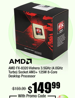 AMD FX-8320 Vishera 3.5GHz (4.0GHz Turbo) Socket AM3+ 125W 8-Core Desktop Processor