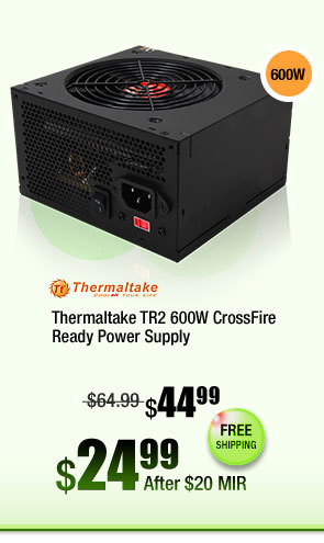 Thermaltake TR2 600W CrossFire Ready Power Supply