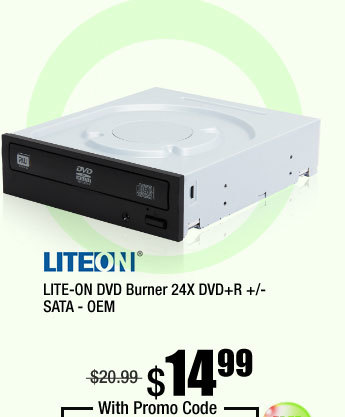 LITE-ON DVD Burner 24X DVD+R +/- SATA - OEM