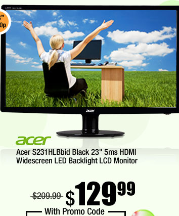 "Acer S231HLBbid Black 23"" 5ms HDMI Widescreen LED Backlight LCD Monitor"