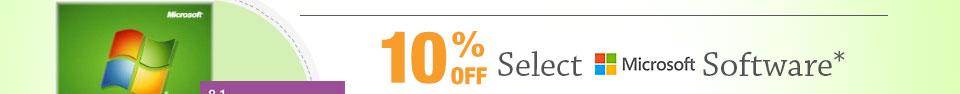 10% OFF SELECT MICROSOFT SOFTWARE*