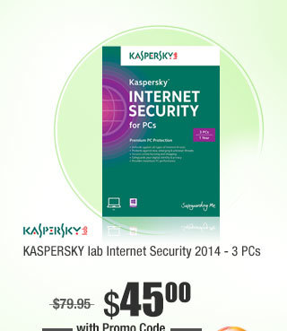 KASPERSKY lab Internet Security 2014 - 3 PCs