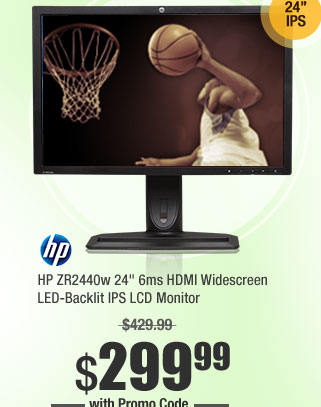 "HP ZR2440w 24"" 6ms HDMI Widescreen LED-Backlit IPS LCD Monitor"