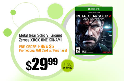 Metal Gear Solid V: Ground Zeroes Xbox One KONAMI