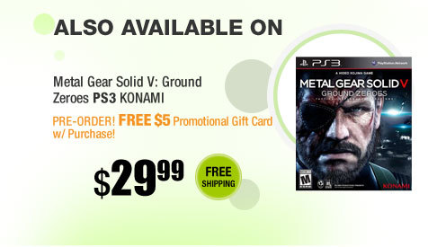 Also available on Metal Gear Solid V: Ground Zeroes PlayStation 3 Konami