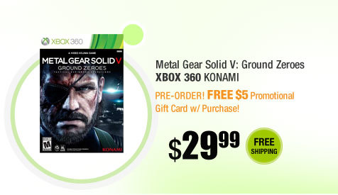 Metal Gear Solid V: Ground Zeroes Xbox 360 KONAMI