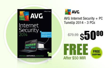 AVG Internet Security + PC TuneUp 2014 - 3 PCs