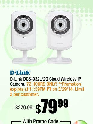 D-Link DCS-932L/2Q Cloud Wireless IP Camera