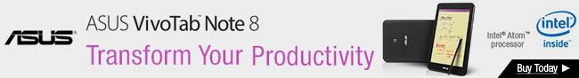 Asus VivoTab Note 8. Transform Your Productivity.