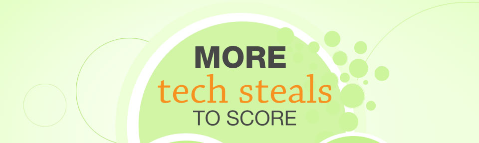 MORE TECH STEALS TO SCORE