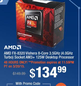 AMD FX-8320 Vishera 8-Core 3.5GHz (4.0GHz Turbo) Socket AM3+ 125W Desktop Processor