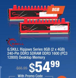 G.SKILL Ripjaws Series 8GB (2 x 4GB) 240-Pin DDR3 SDRAM DDR3 1600 (PC3 12800) Desktop Memory