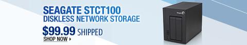 Newegg Flash – Seagate STCT100 Diskless Network Storage