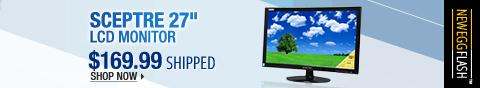 "Newegg Flash – SCEPTRE 27"" LCD Monitor"