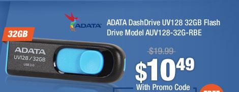 ADATA DashDrive UV128 32GB Flash Drive Model AUV128-32G-RBE