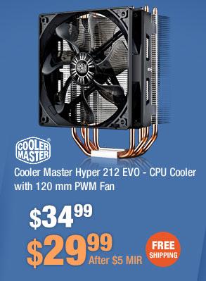 Cooler Master Hyper 212 EVO - CPU Cooler with 120 mm PWM Fan