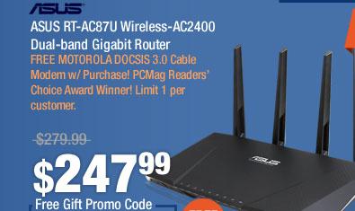 ASUS RT-AC87U Wireless-AC2400 Dual-band Gigabit Router