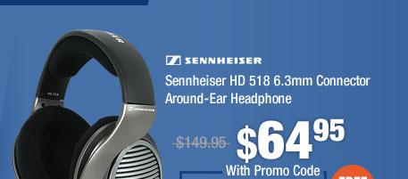 Sennheiser HD 518 6.3mm Connector Around-Ear Headphone