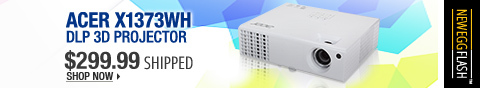 Newegg Flash – Acer X1373WH DLP 3D Projector