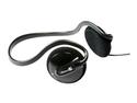 AblePlanet Black PS200BHB 3.5mm/ 6.3mm Connector Supra-aural Behind Head Stereo Headphone Black