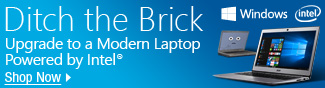 Ditch the Brick. Upgrade to a Modem Laptop Powered by Intel