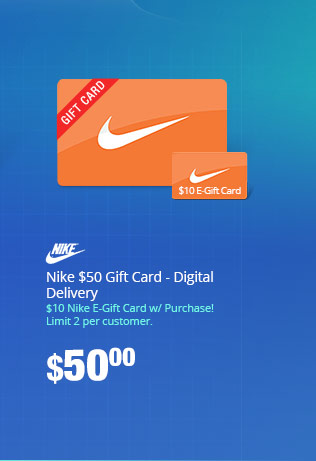 Nike $50 Gift Card - Digital Delivery
