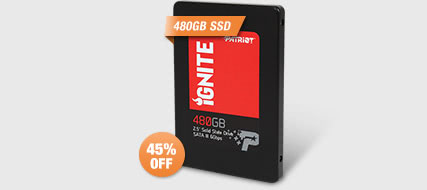 "Patriot Ignite 2.5"" 480GB SATAIII 6Gbps MLC Internal Solid State Drive (SSD) PI480GS25SSDR"