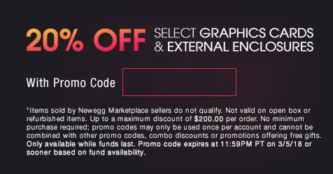 20% OFF Select Graphics Cards & External Enclosures*