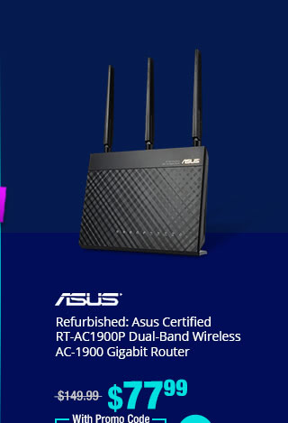 Refurbished: Asus Certified RT-AC1900P Dual-Band Wireless AC-1900 Gigabit Router