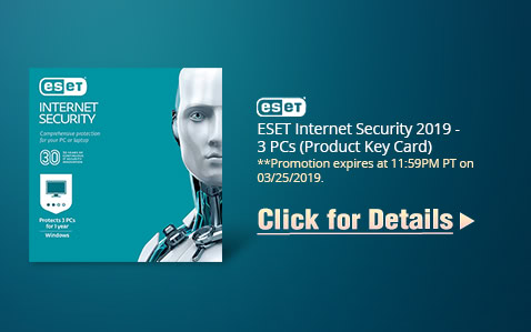 ESET Internet Security 2019 - 3 PCs (Product Key Card)