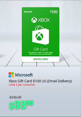 Xbox Gift Card $100 US (Email Delivery) - $88.88