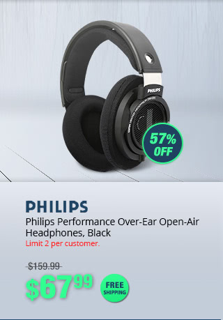 Philips Performance Over-Ear Open-Air Headphones, Black
