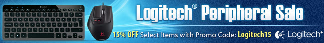 Logitech Peripheral Sale. 15% OFF Select Items with Promo Code: Logitech15.